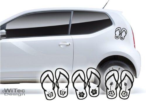 Autoaufkleber Hawaii Sandalen Hibiskus Aufkleber Auto