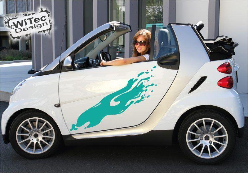 Autoaufkleber Dirty Seitenaufkleber Set für Smart