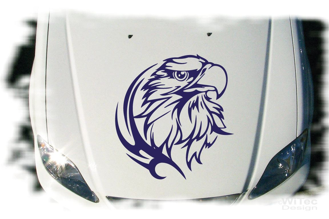 Auto Aufkleber Adler Eagle Autoaufkleber Motorhaube Tattoo