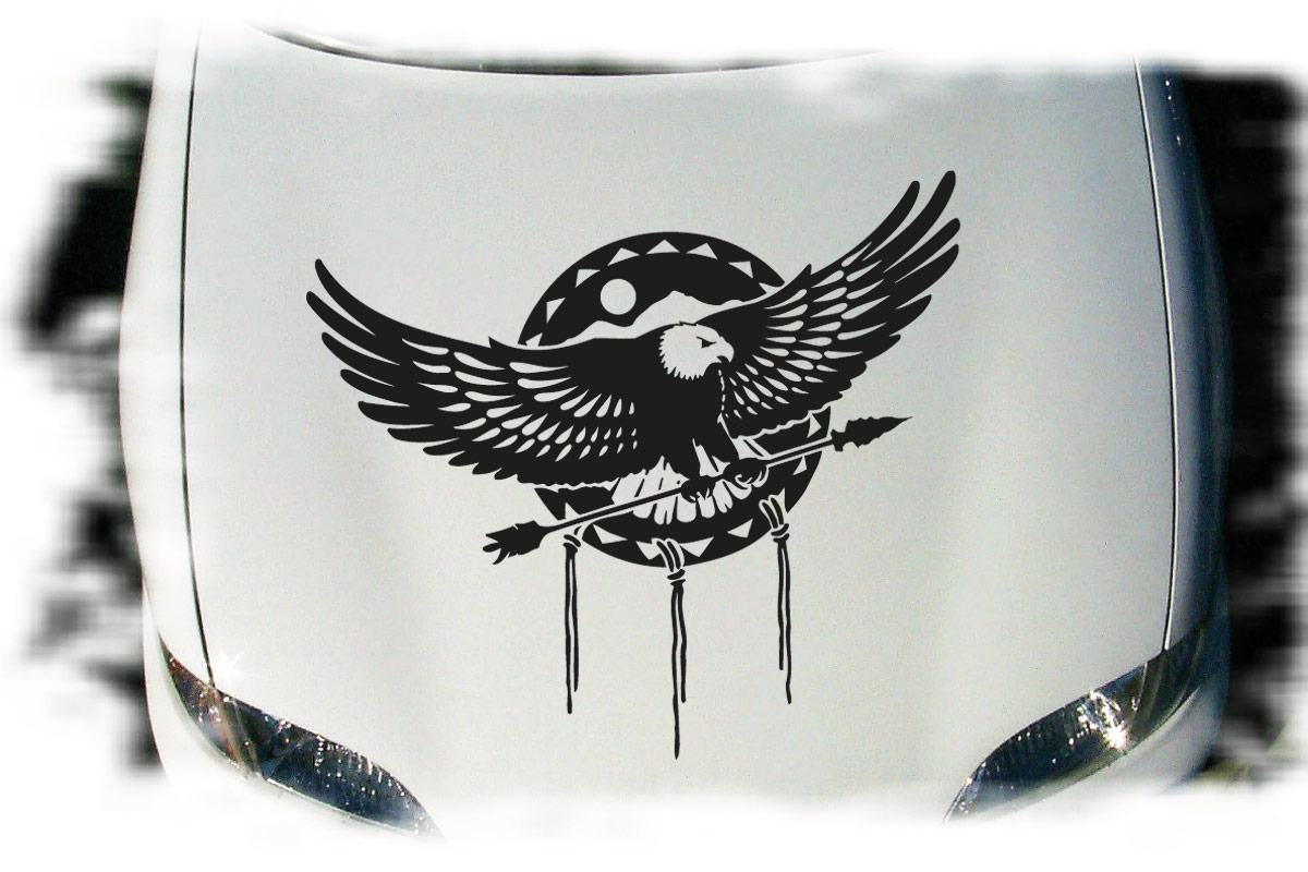 Adler Auto Aufkleber Tattoo Motorhaube