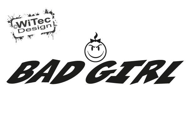 Smiley Bad Girl Autoaufkleber