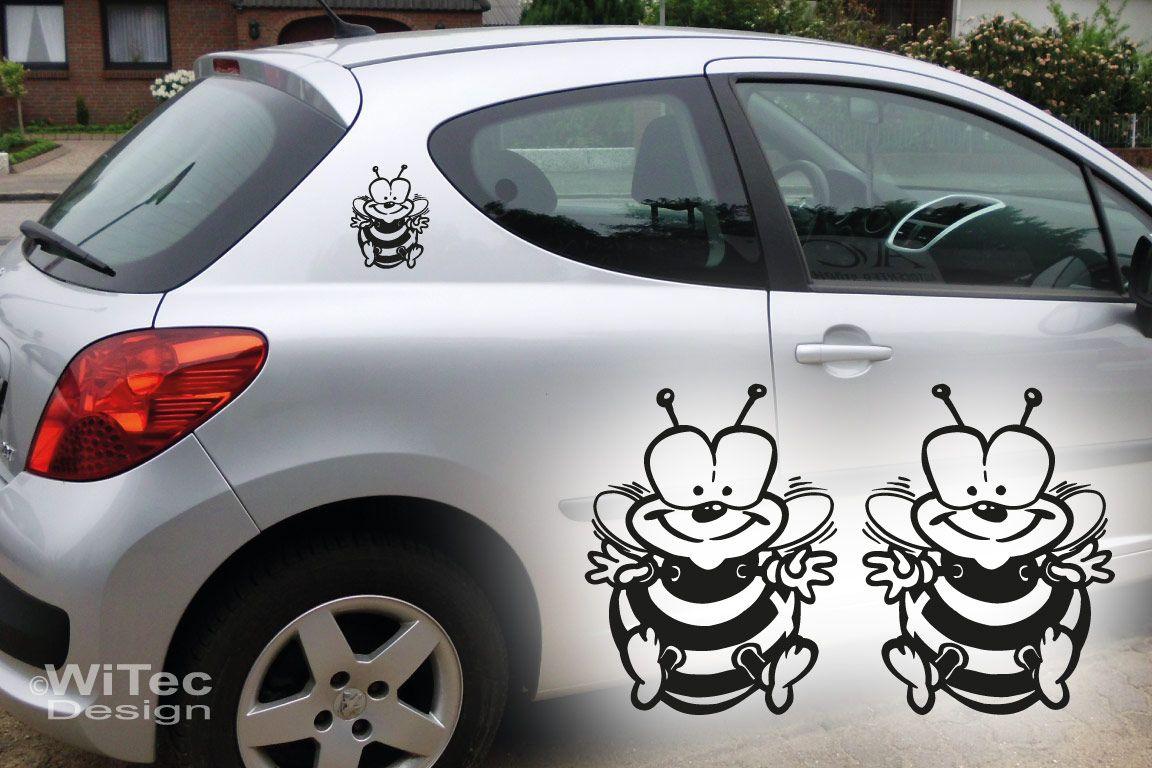 Autoaufkleber Biene 2er set Aufkleber