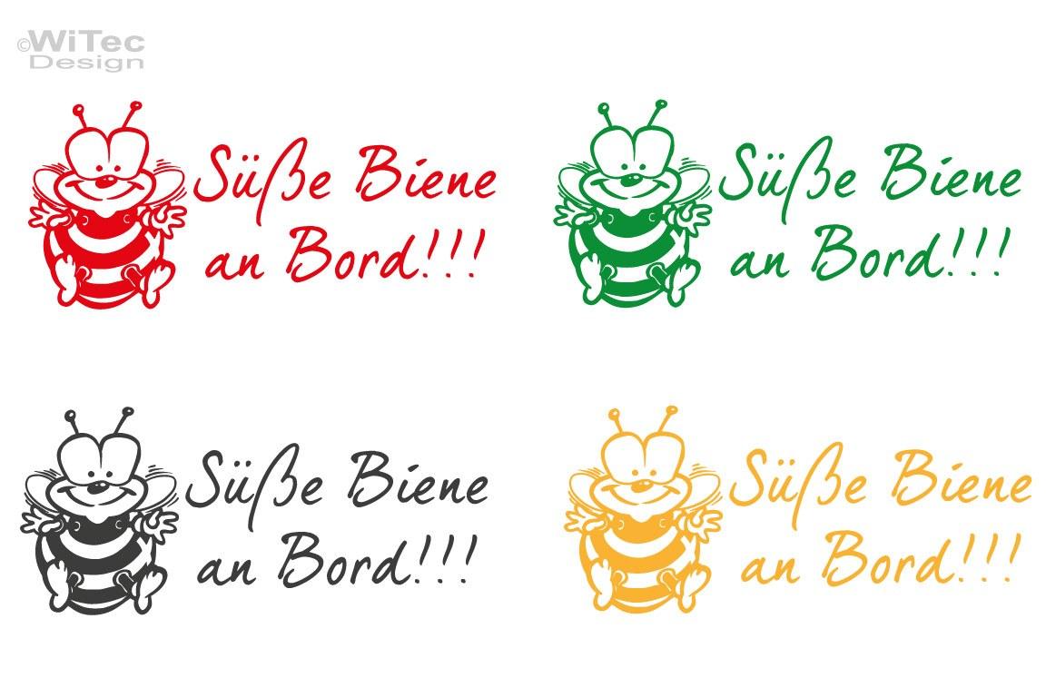 Süße Biene an Bord Auto Aufkleber Sticker