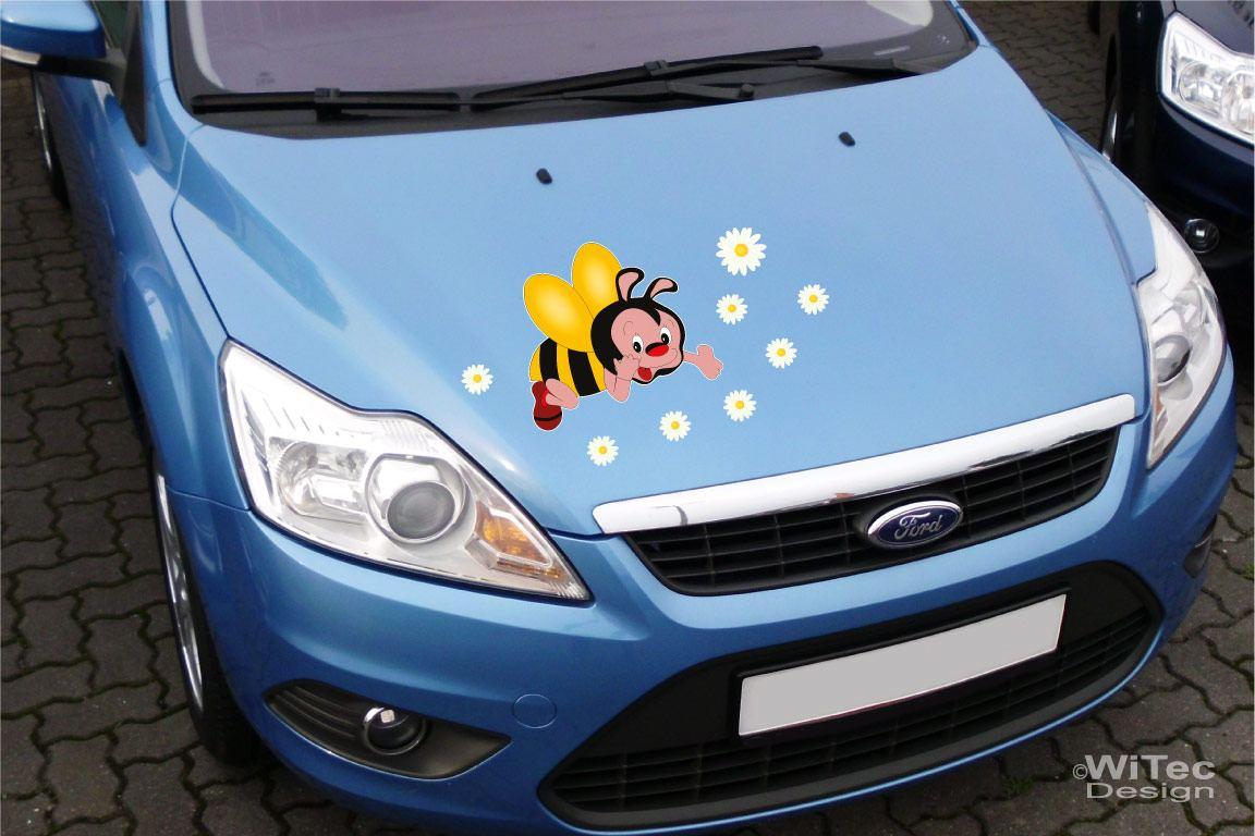 Auto Aufkleber Biene Blumen Autoaufkleber Sticker