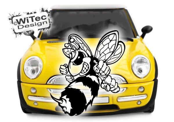 Autoaufkleber Biene Hornisse
