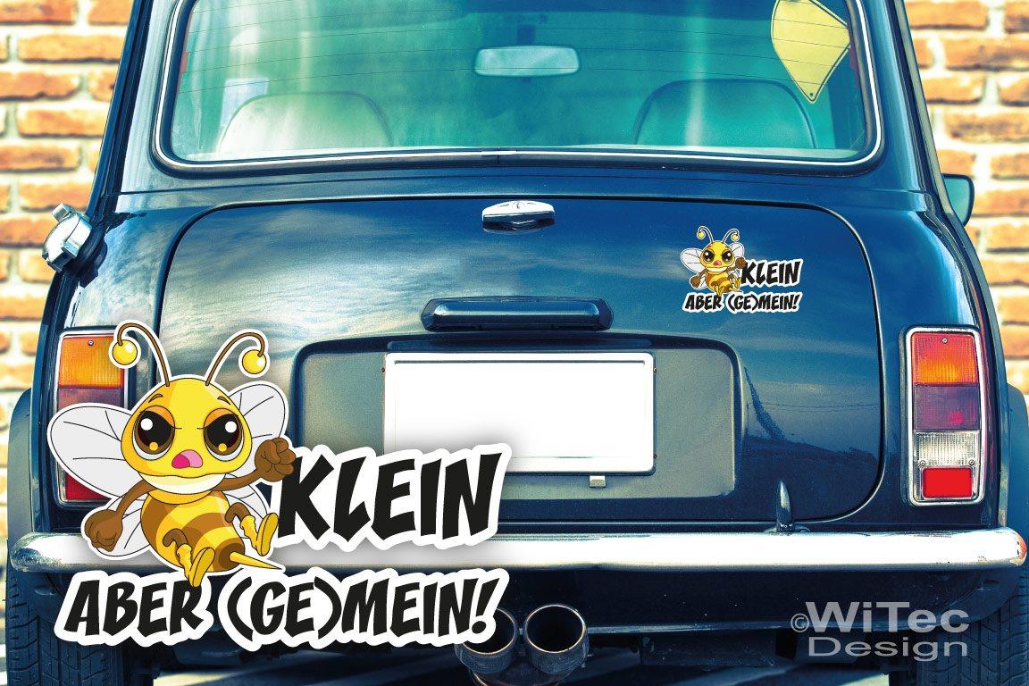 Aufkleber Böse Biene KLEIN ABER (GE)MEIN Autoaufkleber tattoo