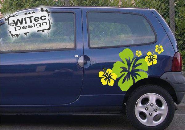 Hibiskus Hawaii Autoaufkleber
