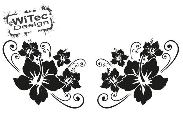 Hibiskus Hibiscus Blumen Auto Aufkleber Set