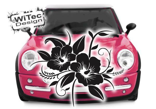 Autoaufkleber Blumenranke Hibiskus
