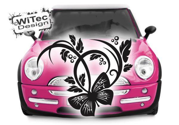 Blumen Ranke Autoaufkleber Schmetterling Butterfly