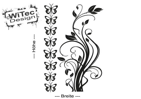 Blumen Ranke Schmetterling