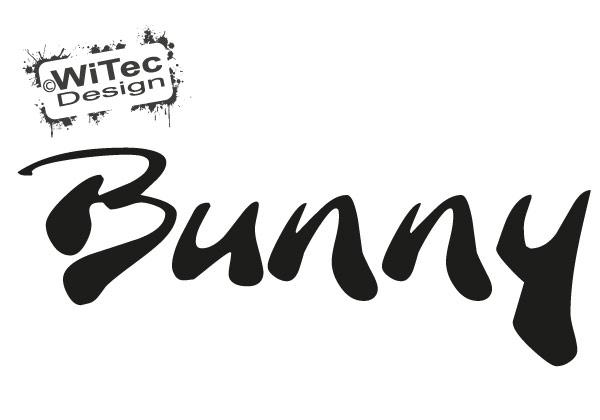 Bunny Autoaufkleber Schriftzug