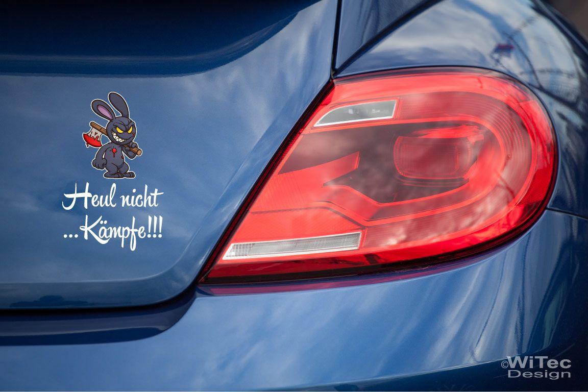 Auto Aufkleber Set Hase Bunny Heul nicht Kämpfe
