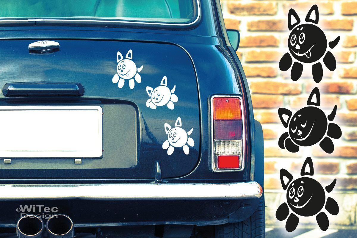 Autoaufkleber Katzen Auto Aufkleber Sticker SET