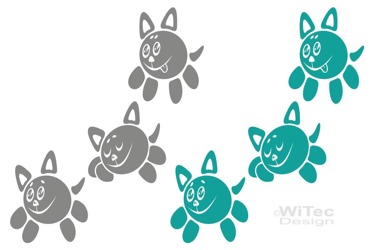 Auto Aufkleber Katzen Sticker Autoaufkleber SET