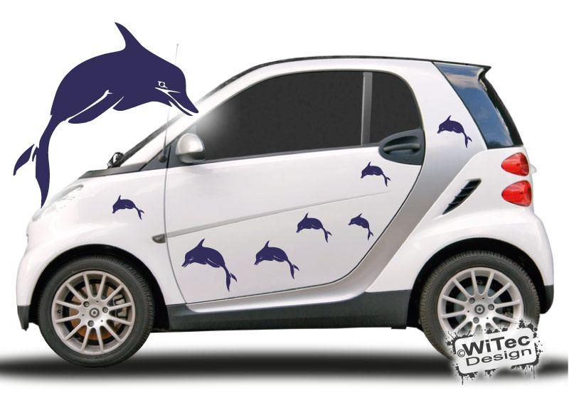 Autoaufkleber Delphin Delfin Auto Aufkleber Set
