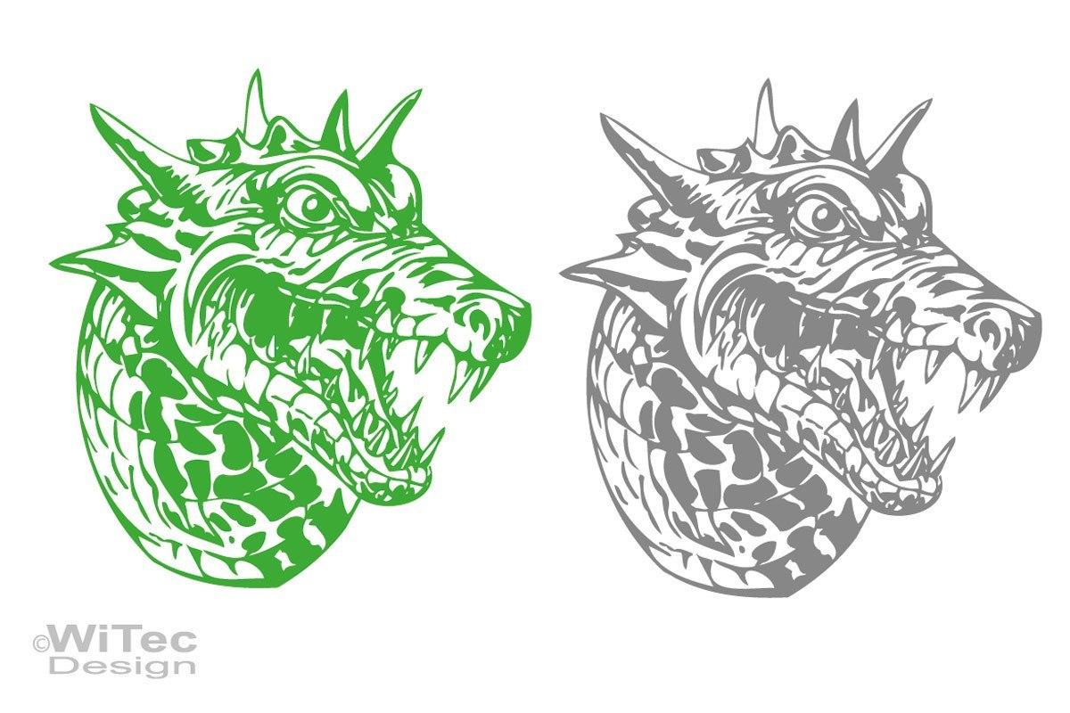Auto Aufkleber Drache Dragon Dragonhead Autoaufkleber