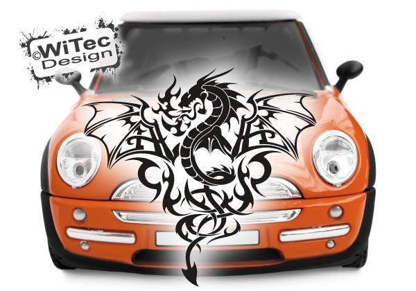 Autoaufkleber Drache Drachen Tribal
