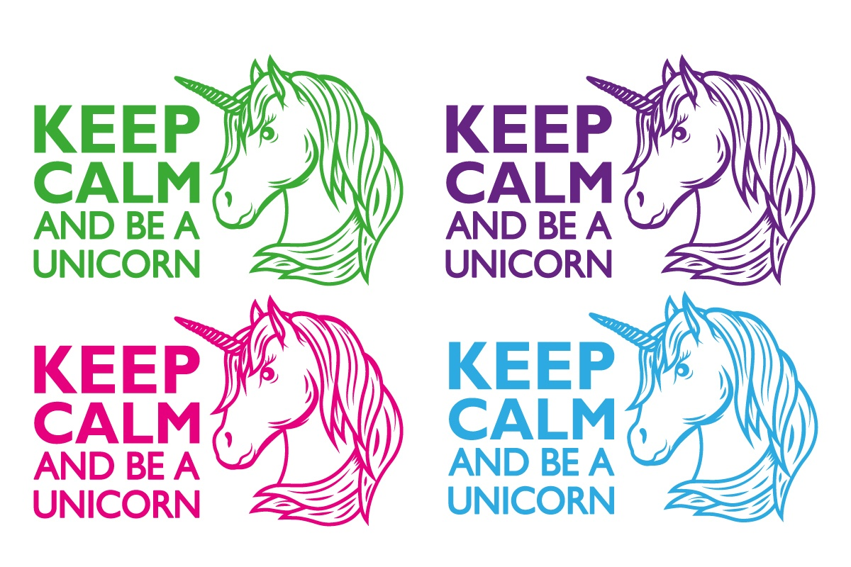 Auto Aufkleber Keep Calm and be a Unicorn Einhorn Autoaufkleber