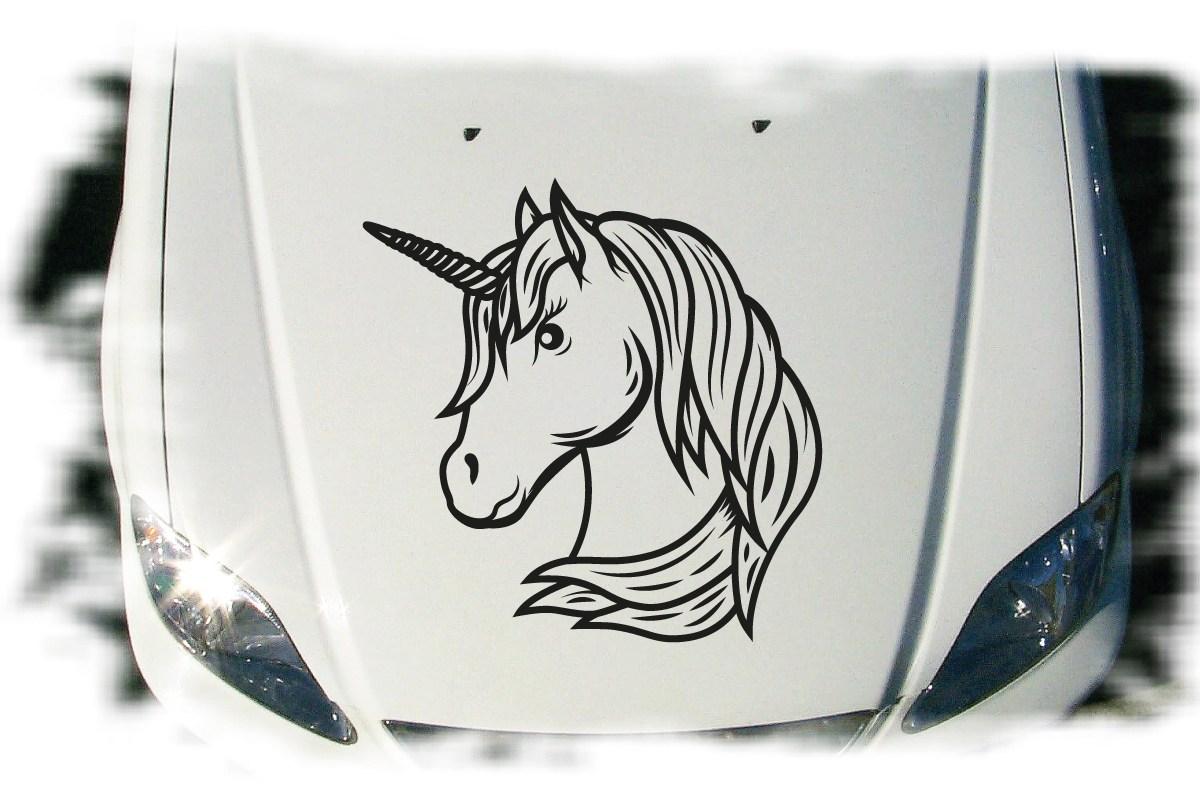Autoaufkleber Einhorn Unicorn Auto Aufkleber Tattoo