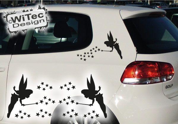 Autoaufkleber Elfen 2er SET Auto Aufkleber Elfe Fee Sterne