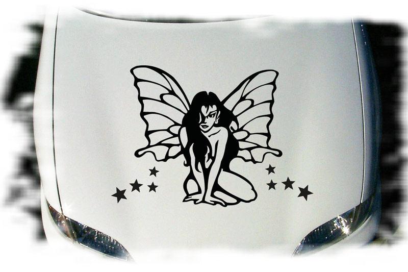 Elfe Schmetterling Auto Aufkleber Tattoo Motorhaube