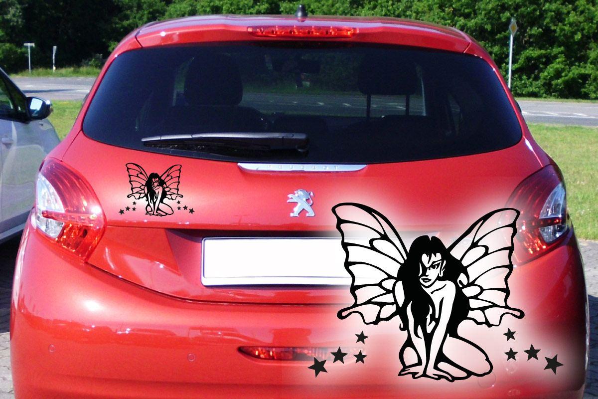 Elfe Schmetterling Auto Aufkleber Tattoo