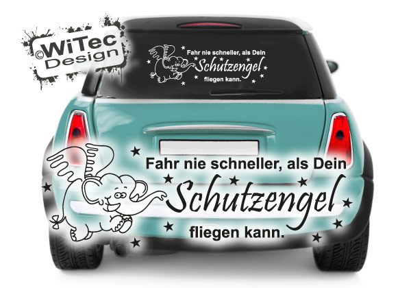 Engel Auto Kühlschrank : Aa auto aufkleber schutzengel engel elefant