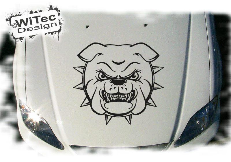 Autoaufkleber Bulldogge Auto Aufkleber Motorhaube