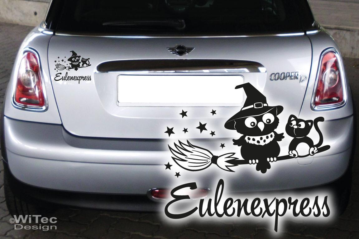 Hexe Eule Eulenexpress Katze Autoaufkleber Auto Aufkleber