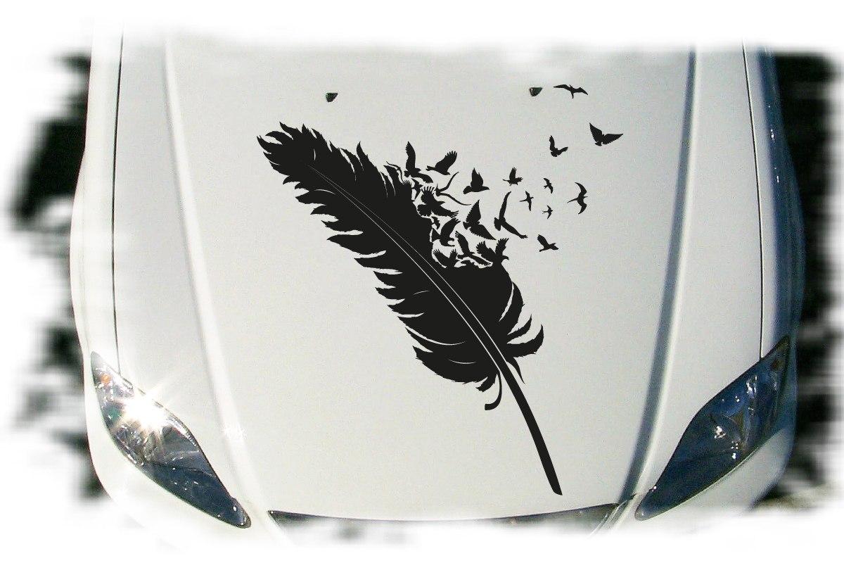 Autoaufkleber Feder Vögel Auto Aufkleber Set Tattoo