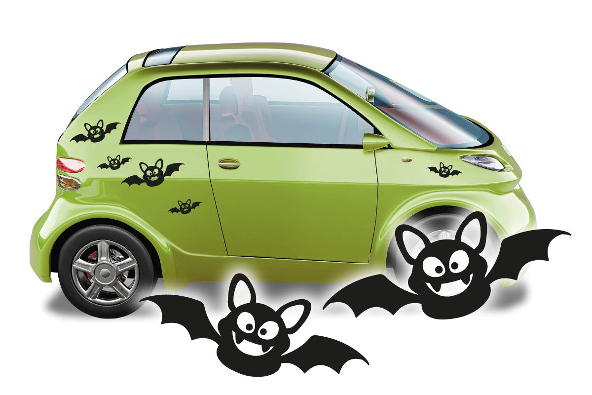 Autoaufkleber Fledermaus Auto Aufkleber Sticker Set
