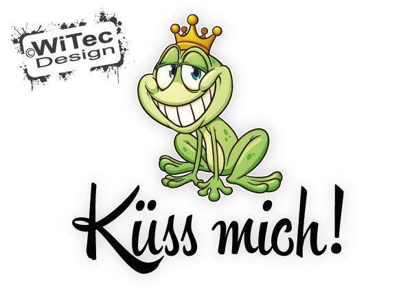 Autoaufkleber Froschkönig Frosch Küss mich