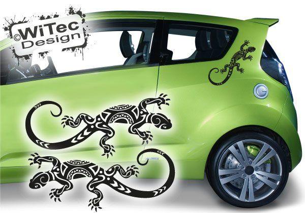 Autoaufkleber Gekko Gecko Sticker 2er Set