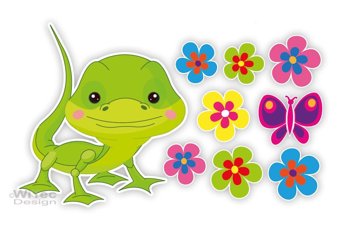 Gecko Blumen Auto Aufkleber Autoaufkleber Sticker