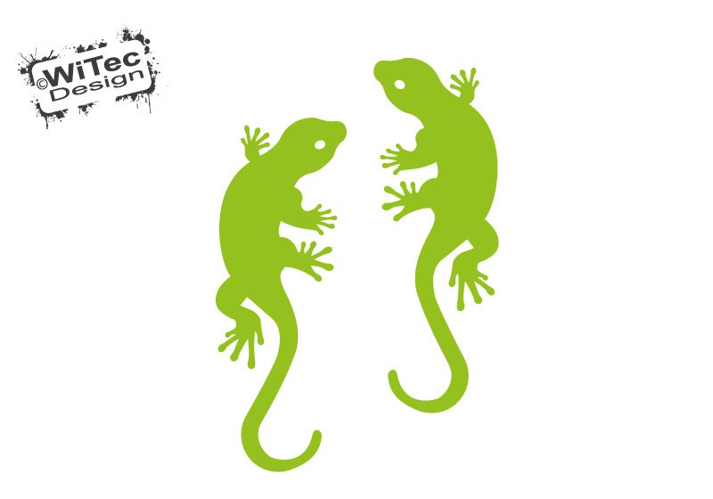 Autoaufkleber Gekko Gecko Echse 2er Aufkleber Sticker Auto