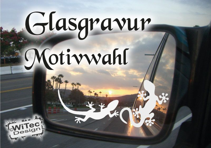 Gekko Gecko Glasgravur Spiegelaufkleber Auto Aufkleber