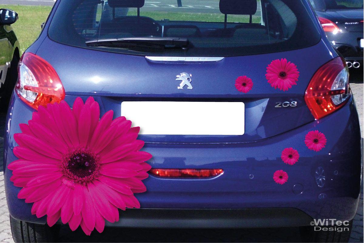 Auto Aufkleber Gerbera Blumen Autoaufkleber Sticker