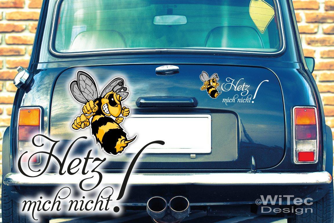 Auto Aufkleber Set Hetz mich nicht Biene Hornisse