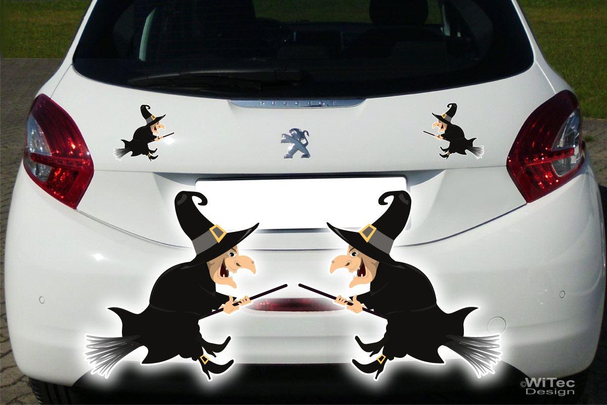 Auto Aufkleber Hexe 2er SET Autoaufkleber Gothik Sticker