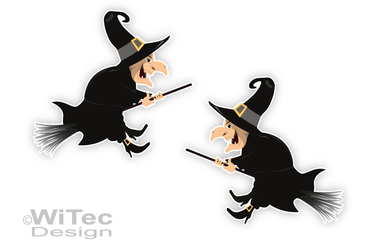 Hexe Hexen Autoaufkleber 2er SET Aufkleber Gothik Sticker