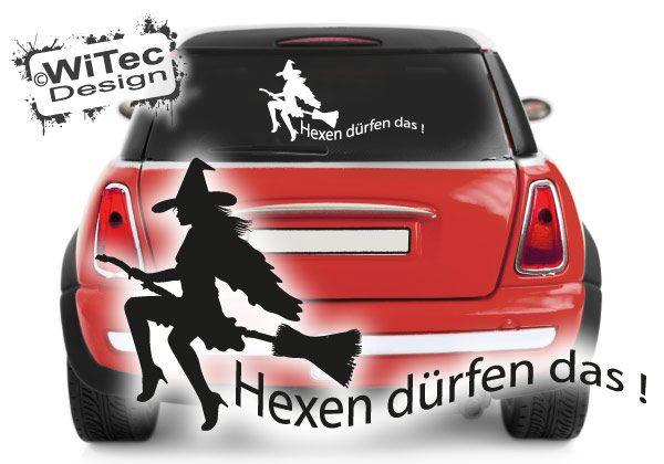HEXEN DÜRFEN DAS Autoaufkleber Gothik Hexe
