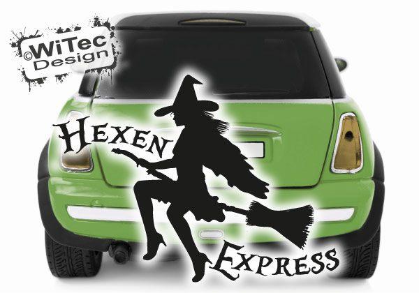 Hexe Autoaufkleber Hexen Express
