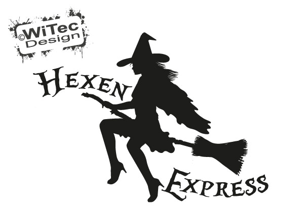 Hexen Express Auto Aufkleber