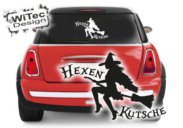 Autoaufkleber Hexenkutsche Hexen Aukleber Sticker