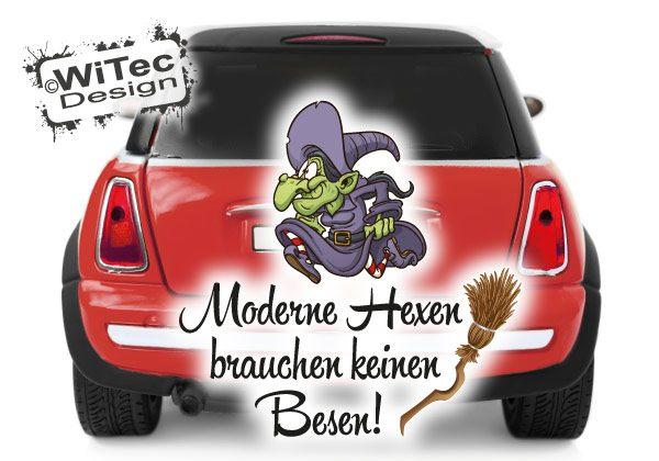 Hexe Autoaufkleber Moderne Hexen
