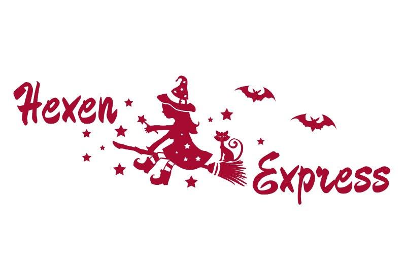 Autoaufkleber Hexen Express Fledermaus Auto Aufkleber