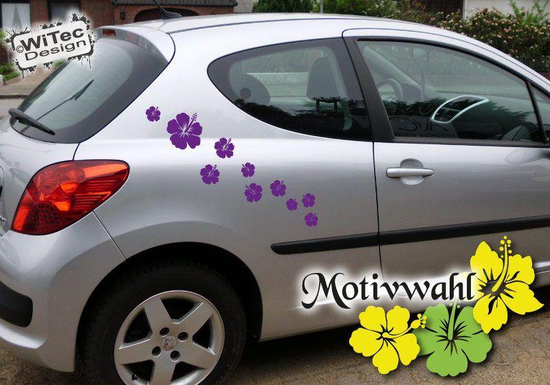 Autoaufkleber Hibiskus Blumen aufkleber Set blumenaufkleber