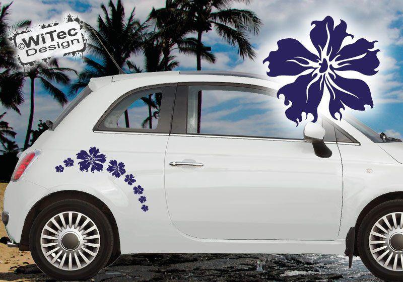 Autoaufkleber Hibiskus 20x Blumen Aufkleber Hawaii