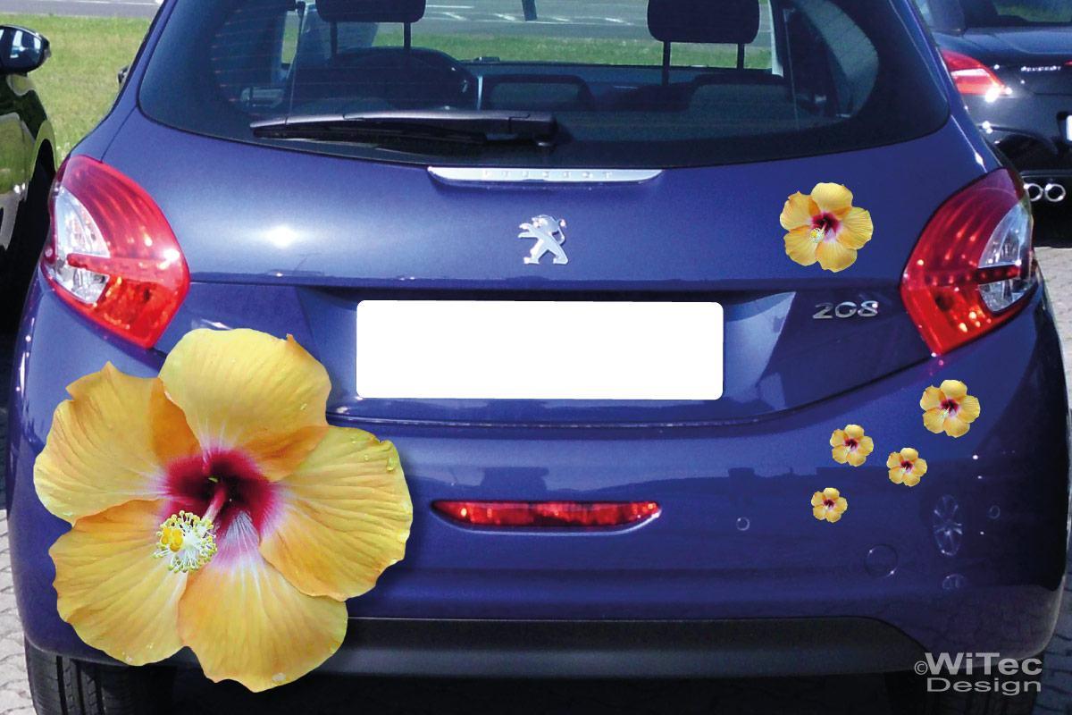 Auto Aufkleber Hibiskus Blumen Autoaufkleber Sticker